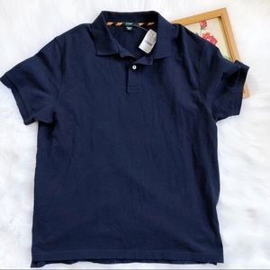 J Crew navy Short Sleeve Classic Polo shirt